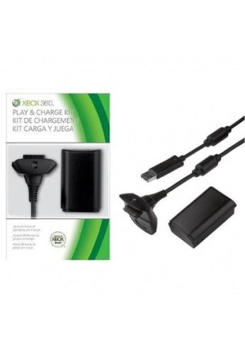 Kit Carga Y Juega Para Xbox 360 + 4800 Ni-Mh
