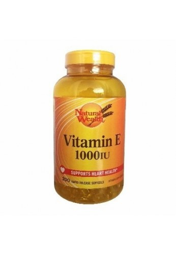 Vitamin E - 1000 Iu 200 Softgels Natural Wealth