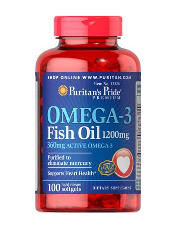 Aceite de pescado con Omega-3, 1200 mg