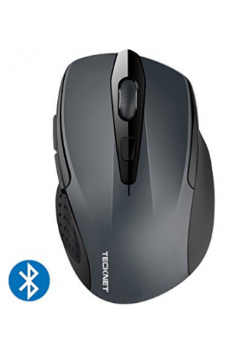 TeckNet – 2400dpi mouse, 24 Meses de Duración de la batería inalámbrico Bluetooth con indicador de batería, 2400/1500/1000dPi