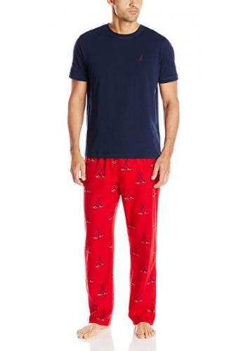 Conjunto De Pijama Nautica Hombres Con Camiseta Y Pantalón