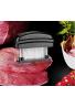 flytt Ablandador de carne, 48 Cuchillas de Acero Inoxidable afiladas para Carne, Pollo, pescado y carne de cerdo (Negro)