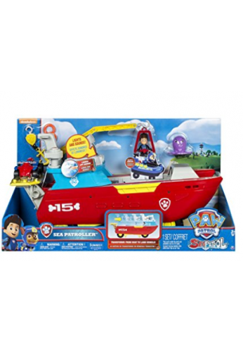 Vehículo de juguete Sea Patroller de Paw Patrol, que se transforma, con luces y sonidos