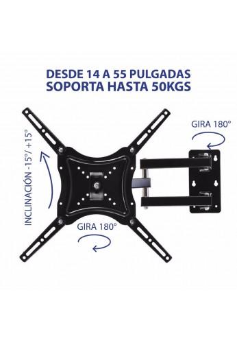 Soporte Base Tv Giratoria 14 A 55 Pulg. Hasta 50kg, Lcd