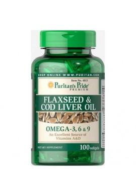 Omega 3. 6 & 9 FLAXSEED & COD LIVER OIL De Puritans