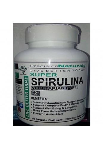 Super Espirulina Organica Americana 90 Capsulas 3000 Mg.