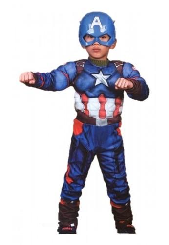 Capitan America Disfraz Niños Avenger Músculos