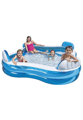 Piscina Familiar Jacuzzi Intex Inflable 4 Sillas 56475