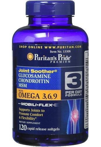 Glucosamina, condroitina y MSM con Omega 3, 6, 9